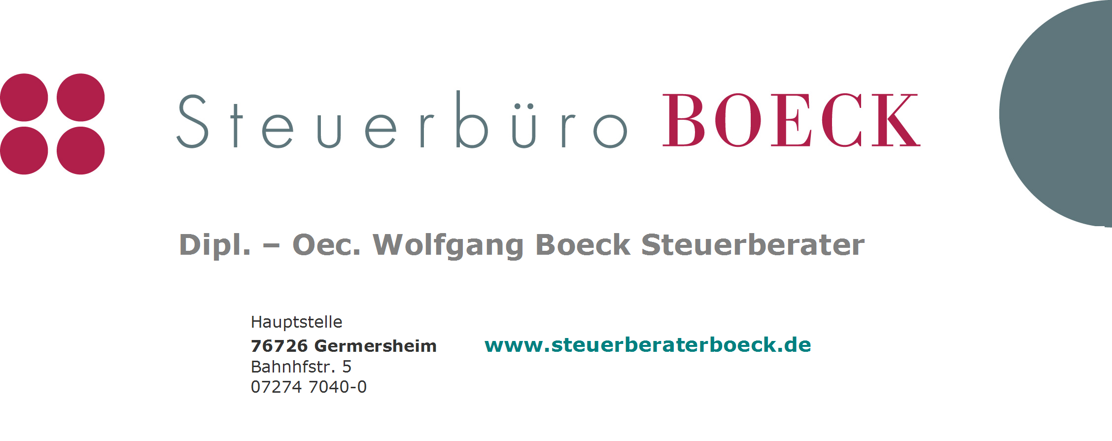 BannerBOECK Text